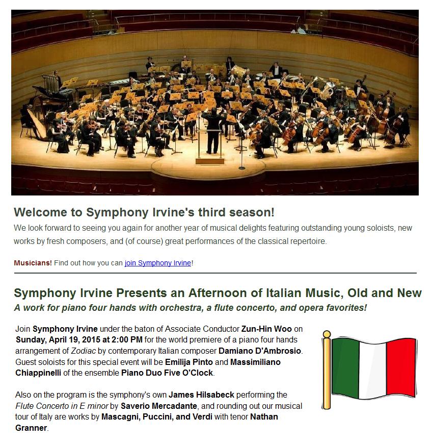 Symphony Irvine Orchestra